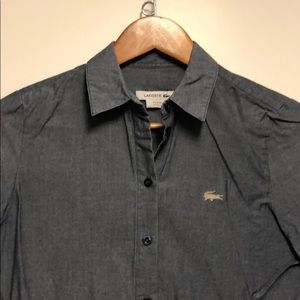 Lacoste denim button down shirt made in France